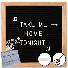 Black Felt Letter Board White Letters Classy Oak Frame Message Board 10x10 Perfect For Home Office Leave Cute Messages Quotes Reminders