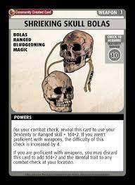 Playing cards, golf balls, ping pong paddles & more. Shrieking Skull Bolas Custom Card Paizo Pathfinder Adventure Card Game Community Cards Drivethrucards Com