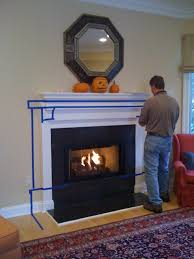 fireplace mantel height within fireplace makeover bossy color annie elliott interior design
