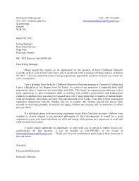 Recommendation Letter For Preschool Teacher Cover Letter Child And