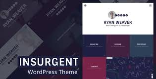 Insurgent - Personal Vcard Resume Portfolio WordPress Theme by egemenerd