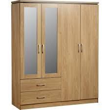 4 Door Cupboard Designs For Bedrooms Charles 4 Door 2 Drawer Mirrored Wardrobe