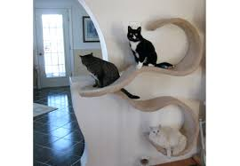 zoom wall mounted cat furniture diy shelf the double wave