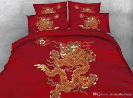 3d chinatown dragon bedding sets queen duvet cover single twin king cal king size bedspreads traditional chinese style bedlinens modern duvet