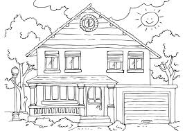Coloring Pages Of Houses New Lovely Simple House Page Drawing For