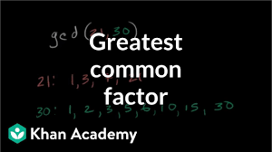 Greatest Common Factor Examples Video Khan Academy