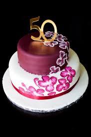 Unique Elegant Birthday Cakes Custom Cakeelegant Design50th