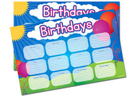 Printable Classroom Birthday Poster Fellowes