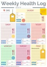 Diet And Exercise Journal Printable Printable Food Logs