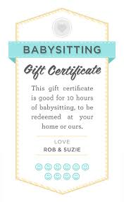 babysitting gift certificate template free babysitting gift certificate download fully customizable psd or