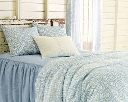 new from pine cone hill veena blue duvet cover and shams savannah linen chambray