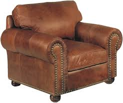 Mission Living Room Furniture Stickley Hutchinson Leather Chair With Nailhead Trim Stickley