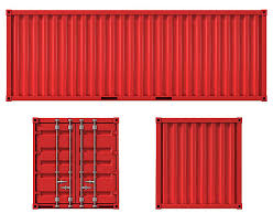 ... cargo container front side and back view stock photo ...