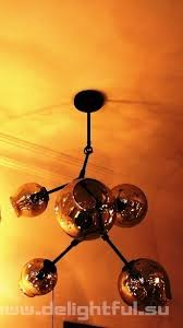 replica branching bubble chandelier 5 by lindsey adelman dark