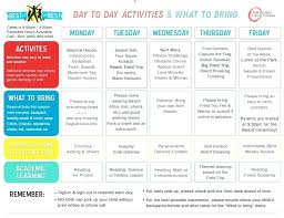 Summer Camp Daily Schedule Template Summer Camp Daily Schedule Template C Reference