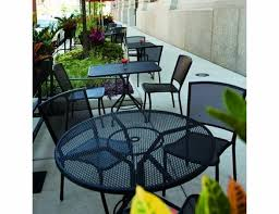 albion wrought iron cafe table set