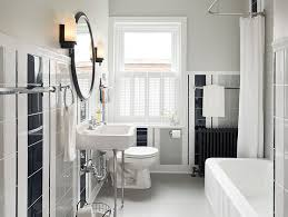 Fantastic Design Of The Gray And White Bathroom With White Tubs Added With  Black Tile Wall