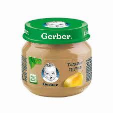 <b>Пюре Gerber груша</b> Вильямс с 4мес 80г ст/б - купить с доставкой ...