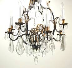 paige crystal chandelier metal and with estate salvage elaborate vintage gilt 6 b on chandeliers