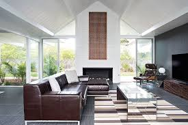 living room with mirrored furniture. Airy Living Room Filled With Midcentury Goodness [From: Klopf Architecture] Mirrored Furniture