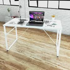 office computer desk glass writing table iron legs map print workstation study