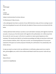 Authorization Letter To Operate Bank Account Sample