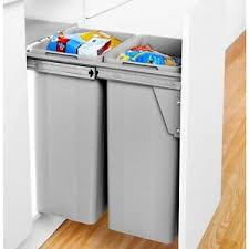Image is loading Large-Pull-Out-Kitchen-Waste-Bin-64-Litres-