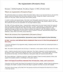 8 argumentative essay exles free