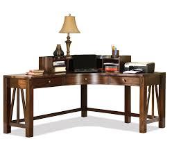 castlewood corner desk with curved hutch by riverside furniture