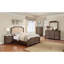 ... Empire Bedroom Set   Nailhead, Rustic Oak   MYCO EM3800 BED SET