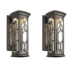doubles sames types franceasi kichler brightness outdoor wall mounted lighting rectangulars structures traditional lover