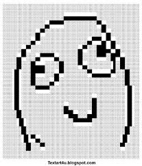 "Derp Smile Meme Face"" Text Art 