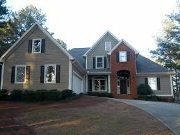 exterior paint colors with red brickLove this colour combo red brick black shutters taupe siding