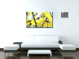 yellow and gray canvas wall art yellow and grey wall art blossoms in yellow