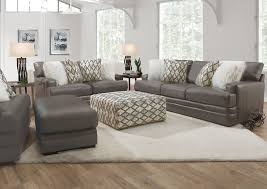 lizette leather sofa set gray