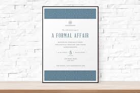 Blank Event Flyer Templates Diy Printable Event Flyer Template Formal Gala Invitation Etsy