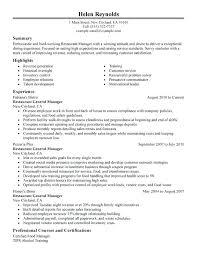 Sample General Manager Resume General Manager Resume Examples Hotel Manager Resume Resume Sample