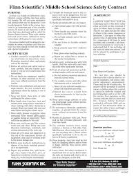 Safety Contract From Flinn | Laboratories | Classroom