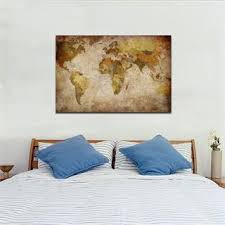 antique vintage wall canvas world map globe home decor wall art poster framed on vintage wall art canvas with antique vintage wall canvas world map globe home decor wall art