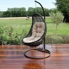 outdoor hanging furniture. maze rattan garden furniture malibu brown outdoor hanging chair