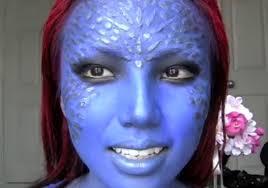 mystique x men makeup look