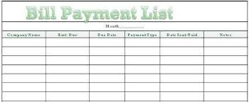 List Of Bills To Pay Template Zrom Sharedvisionplanning Us
