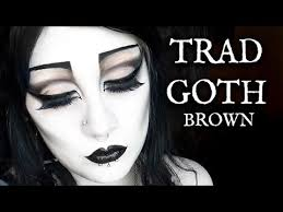 traditional goth makeup brown black friday you