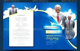 Funeral Memorial Program Template Brochure Templates Free Service ...
