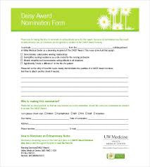 Daisy Award Certificate Template Award Nomination Form Template 12 ...