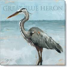 on heron canvas wall art with great blue heron canvas art print