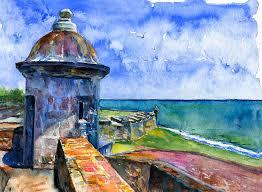 puerto rico painting fort san juan puerto rico by john d benson