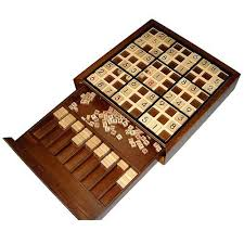 Wooden Sudoku Game Board Amazon Wooden Deluxe Sudoku Board Game Toys Games 4