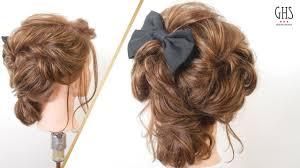 卒業パーティー謝恩会の髪型ミディアムヘアアレンジ Youtube
