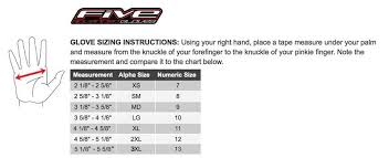 Five Gloves Size Chart 51 Unusual Agv Glove Size Chart